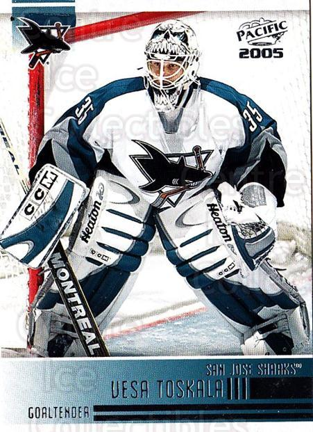 2004-05 Pacific #234 Vesa Toskala<br/>3 In Stock - $1.00 each - <a href=https://centericecollectibles.foxycart.com/cart?name=2004-05%20Pacific%20%23234%20Vesa%20Toskala...&quantity_max=3&price=$1.00&code=202437 class=foxycart> Buy it now! </a>
