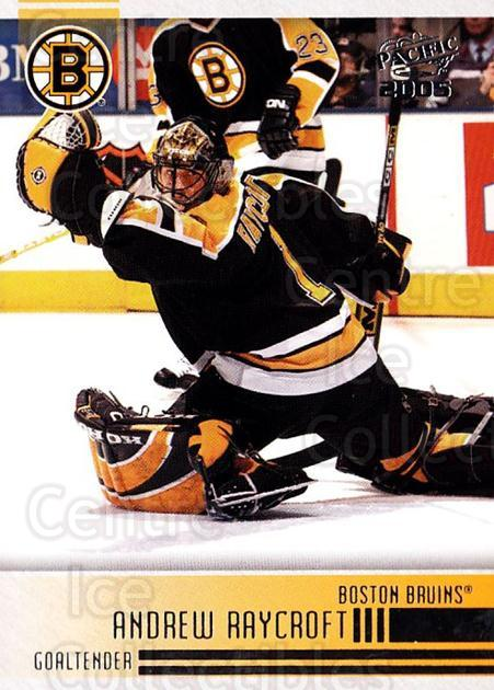 2004-05 Pacific #24 Andrew Raycroft<br/>4 In Stock - $1.00 each - <a href=https://centericecollectibles.foxycart.com/cart?name=2004-05%20Pacific%20%2324%20Andrew%20Raycroft...&quantity_max=4&price=$1.00&code=202443 class=foxycart> Buy it now! </a>
