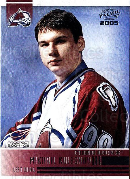 2004-05 Pacific #276 Mikhail Kuleshov<br/>4 In Stock - $1.00 each - <a href=https://centericecollectibles.foxycart.com/cart?name=2004-05%20Pacific%20%23276%20Mikhail%20Kulesho...&quantity_max=4&price=$1.00&code=202480 class=foxycart> Buy it now! </a>