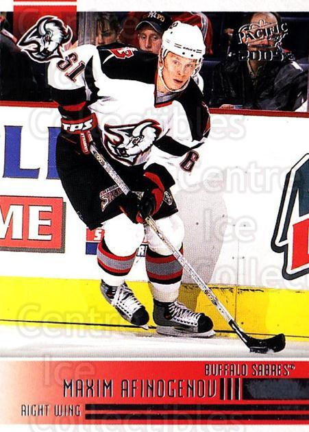 2004-05 Pacific #28 Maxim Afinogenov<br/>2 In Stock - $1.00 each - <a href=https://centericecollectibles.foxycart.com/cart?name=2004-05%20Pacific%20%2328%20Maxim%20Afinogeno...&quantity_max=2&price=$1.00&code=202483 class=foxycart> Buy it now! </a>