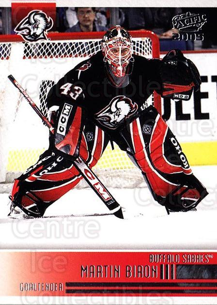 2004-05 Pacific #29 Martin Biron<br/>7 In Stock - $1.00 each - <a href=https://centericecollectibles.foxycart.com/cart?name=2004-05%20Pacific%20%2329%20Martin%20Biron...&quantity_max=7&price=$1.00&code=202490 class=foxycart> Buy it now! </a>