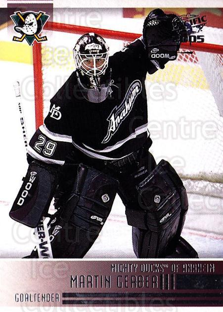 2004-05 Pacific #3 Martin Gerber<br/>4 In Stock - $1.00 each - <a href=https://centericecollectibles.foxycart.com/cart?name=2004-05%20Pacific%20%233%20Martin%20Gerber...&quantity_max=4&price=$1.00&code=202495 class=foxycart> Buy it now! </a>