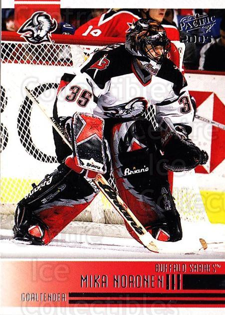 2004-05 Pacific #34 Mika Noronen<br/>3 In Stock - $1.00 each - <a href=https://centericecollectibles.foxycart.com/cart?name=2004-05%20Pacific%20%2334%20Mika%20Noronen...&quantity_max=3&price=$1.00&code=202500 class=foxycart> Buy it now! </a>