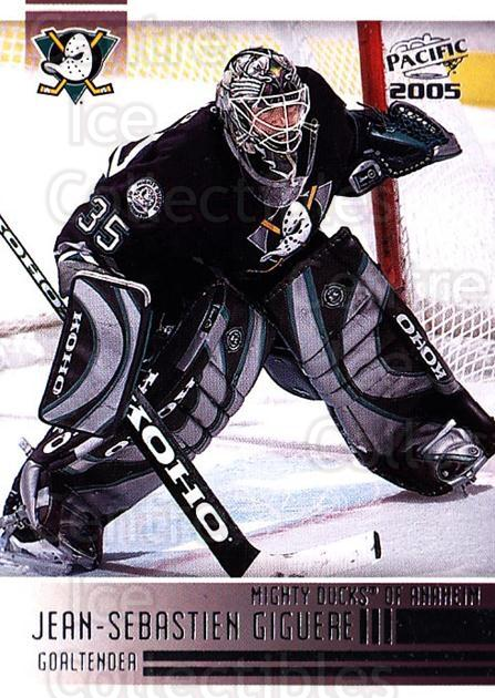 2004-05 Pacific #4 Jean-Sebastien Giguere<br/>4 In Stock - $1.00 each - <a href=https://centericecollectibles.foxycart.com/cart?name=2004-05%20Pacific%20%234%20Jean-Sebastien%20...&quantity_max=4&price=$1.00&code=202506 class=foxycart> Buy it now! </a>