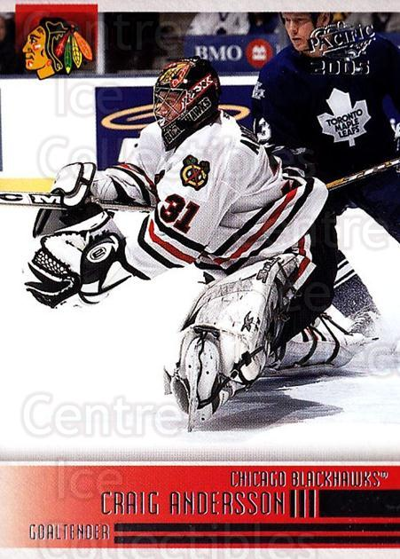 2004-05 Pacific #55 Craig Anderson<br/>4 In Stock - $1.00 each - <a href=https://centericecollectibles.foxycart.com/cart?name=2004-05%20Pacific%20%2355%20Craig%20Anderson...&quantity_max=4&price=$1.00&code=202523 class=foxycart> Buy it now! </a>