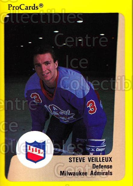 1989-90 ProCards IHL #167 Steve Veilleux<br/>10 In Stock - $2.00 each - <a href=https://centericecollectibles.foxycart.com/cart?name=1989-90%20ProCards%20IHL%20%23167%20Steve%20Veilleux...&quantity_max=10&price=$2.00&code=20275 class=foxycart> Buy it now! </a>
