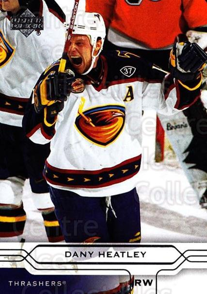 2004-05 Upper Deck #7 Dany Heatley<br/>5 In Stock - $1.00 each - <a href=https://centericecollectibles.foxycart.com/cart?name=2004-05%20Upper%20Deck%20%237%20Dany%20Heatley...&quantity_max=5&price=$1.00&code=202838 class=foxycart> Buy it now! </a>