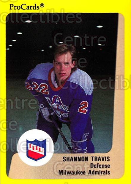 1989-90 ProCards IHL #174 Shannon Travis<br/>1 In Stock - $2.00 each - <a href=https://centericecollectibles.foxycart.com/cart?name=1989-90%20ProCards%20IHL%20%23174%20Shannon%20Travis...&quantity_max=1&price=$2.00&code=20283 class=foxycart> Buy it now! </a>