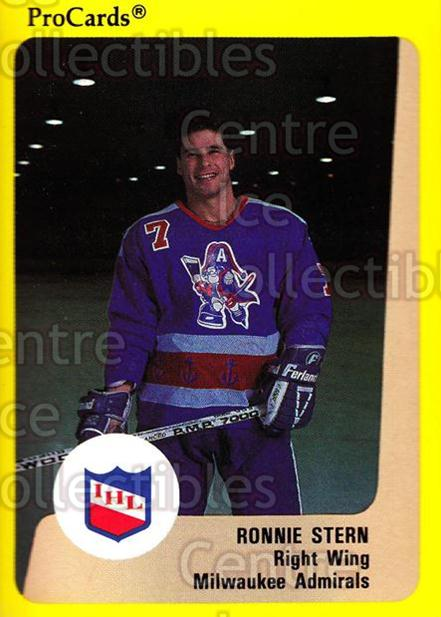 1989-90 ProCards IHL #179 Ronnie Stern<br/>9 In Stock - $2.00 each - <a href=https://centericecollectibles.foxycart.com/cart?name=1989-90%20ProCards%20IHL%20%23179%20Ronnie%20Stern...&quantity_max=9&price=$2.00&code=20287 class=foxycart> Buy it now! </a>