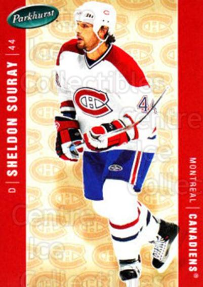 2005-06 Parkhurst #258 Sheldon Souray<br/>8 In Stock - $1.00 each - <a href=https://centericecollectibles.foxycart.com/cart?name=2005-06%20Parkhurst%20%23258%20Sheldon%20Souray...&quantity_max=8&price=$1.00&code=202897 class=foxycart> Buy it now! </a>