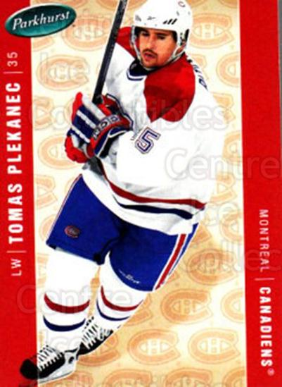 2005-06 Parkhurst #259 Tomas Plekanec<br/>8 In Stock - $1.00 each - <a href=https://centericecollectibles.foxycart.com/cart?name=2005-06%20Parkhurst%20%23259%20Tomas%20Plekanec...&quantity_max=8&price=$1.00&code=202898 class=foxycart> Buy it now! </a>
