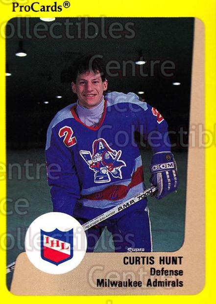 1989-90 ProCards IHL #186 Curtis Hunt<br/>6 In Stock - $2.00 each - <a href=https://centericecollectibles.foxycart.com/cart?name=1989-90%20ProCards%20IHL%20%23186%20Curtis%20Hunt...&quantity_max=6&price=$2.00&code=20294 class=foxycart> Buy it now! </a>