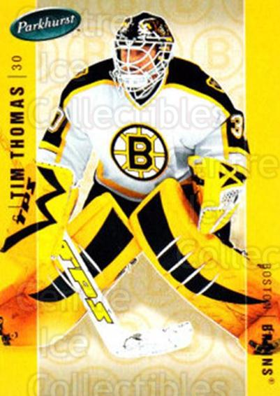 2005-06 Parkhurst #36 Tim Thomas<br/>2 In Stock - $1.00 each - <a href=https://centericecollectibles.foxycart.com/cart?name=2005-06%20Parkhurst%20%2336%20Tim%20Thomas...&quantity_max=2&price=$1.00&code=202994 class=foxycart> Buy it now! </a>