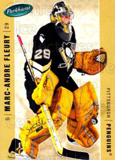 2005-06 Parkhurst #385 Marc-Andre Fleury<br/>4 In Stock - $2.00 each - <a href=https://centericecollectibles.foxycart.com/cart?name=2005-06%20Parkhurst%20%23385%20Marc-Andre%20Fleu...&quantity_max=4&price=$2.00&code=203022 class=foxycart> Buy it now! </a>