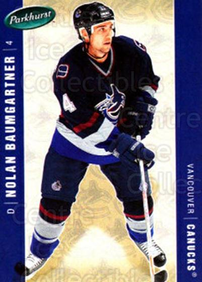 2005-06 Parkhurst #474 Nolan Baumgartner<br/>7 In Stock - $1.00 each - <a href=https://centericecollectibles.foxycart.com/cart?name=2005-06%20Parkhurst%20%23474%20Nolan%20Baumgartn...&quantity_max=7&price=$1.00&code=203121 class=foxycart> Buy it now! </a>