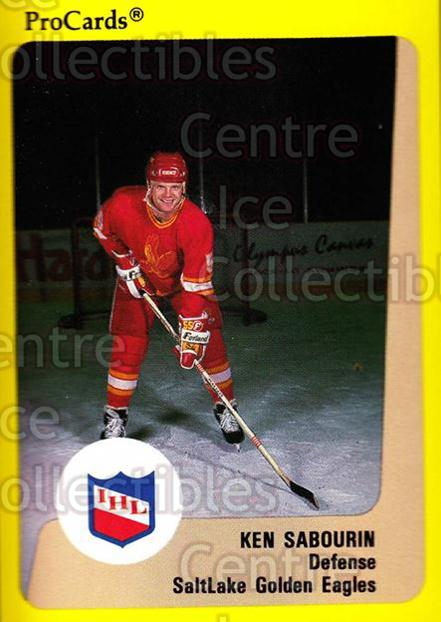 1989-90 ProCards IHL #204 Ken Sabourin<br/>9 In Stock - $2.00 each - <a href=https://centericecollectibles.foxycart.com/cart?name=1989-90%20ProCards%20IHL%20%23204%20Ken%20Sabourin...&quantity_max=9&price=$2.00&code=20313 class=foxycart> Buy it now! </a>