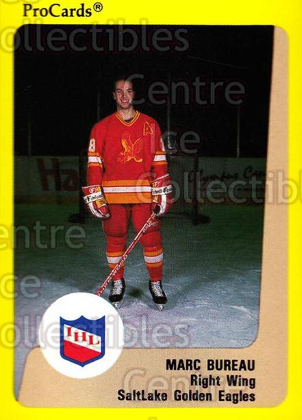 1989-90 ProCards IHL #208 Marc Bureau<br/>9 In Stock - $2.00 each - <a href=https://centericecollectibles.foxycart.com/cart?name=1989-90%20ProCards%20IHL%20%23208%20Marc%20Bureau...&quantity_max=9&price=$2.00&code=20317 class=foxycart> Buy it now! </a>