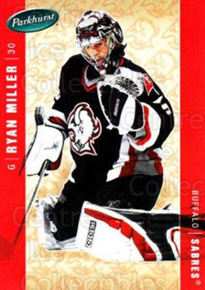 2005-06 Parkhurst #54 Ryan Miller<br/>6 In Stock - $1.00 each - <a href=https://centericecollectibles.foxycart.com/cart?name=2005-06%20Parkhurst%20%2354%20Ryan%20Miller...&quantity_max=6&price=$1.00&code=203189 class=foxycart> Buy it now! </a>