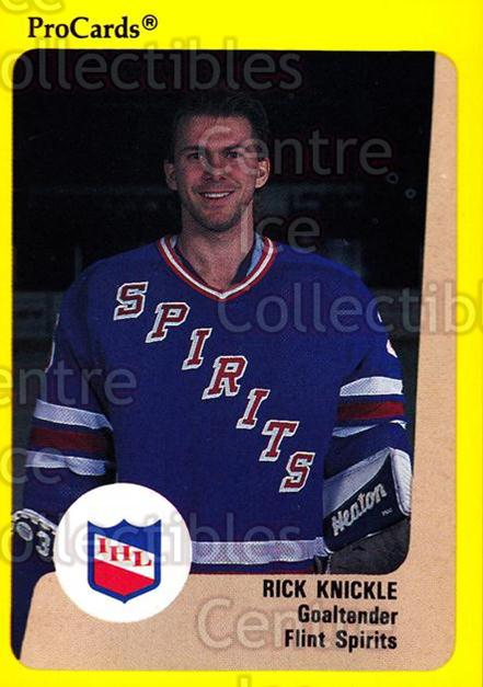 1989-90 ProCards IHL #26 Rick Knickle<br/>1 In Stock - $2.00 each - <a href=https://centericecollectibles.foxycart.com/cart?name=1989-90%20ProCards%20IHL%20%2326%20Rick%20Knickle...&quantity_max=1&price=$2.00&code=20323 class=foxycart> Buy it now! </a>