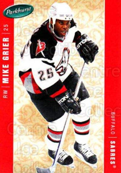 2005-06 Parkhurst #60 Mike Grier<br/>7 In Stock - $1.00 each - <a href=https://centericecollectibles.foxycart.com/cart?name=2005-06%20Parkhurst%20%2360%20Mike%20Grier...&quantity_max=7&price=$1.00&code=203245 class=foxycart> Buy it now! </a>