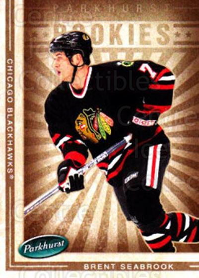 2005-06 Parkhurst #616 Brent Seabrook<br/>5 In Stock - $2.00 each - <a href=https://centericecollectibles.foxycart.com/cart?name=2005-06%20Parkhurst%20%23616%20Brent%20Seabrook...&quantity_max=5&price=$2.00&code=203258 class=foxycart> Buy it now! </a>