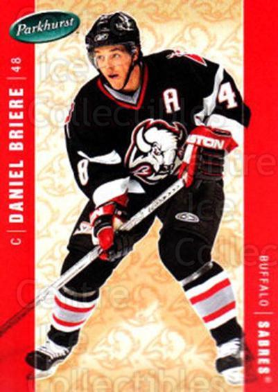 2005-06 Parkhurst #62 Daniel Briere<br/>6 In Stock - $1.00 each - <a href=https://centericecollectibles.foxycart.com/cart?name=2005-06%20Parkhurst%20%2362%20Daniel%20Briere...&quantity_max=6&price=$1.00&code=203262 class=foxycart> Buy it now! </a>