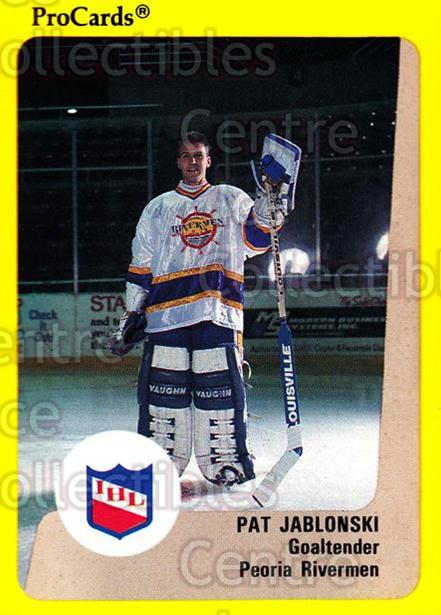 1989-90 ProCards IHL #3 Pat Jablonski<br/>5 In Stock - $2.00 each - <a href=https://centericecollectibles.foxycart.com/cart?name=1989-90%20ProCards%20IHL%20%233%20Pat%20Jablonski...&quantity_max=5&price=$2.00&code=20327 class=foxycart> Buy it now! </a>