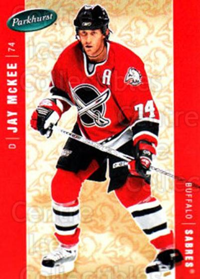 2005-06 Parkhurst #64 Jay McKee<br/>5 In Stock - $1.00 each - <a href=https://centericecollectibles.foxycart.com/cart?name=2005-06%20Parkhurst%20%2364%20Jay%20McKee...&quantity_max=5&price=$1.00&code=203281 class=foxycart> Buy it now! </a>