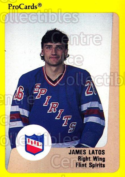 1989-90 ProCards IHL #30 Jim Latos<br/>1 In Stock - $2.00 each - <a href=https://centericecollectibles.foxycart.com/cart?name=1989-90%20ProCards%20IHL%20%2330%20Jim%20Latos...&quantity_max=1&price=$2.00&code=20328 class=foxycart> Buy it now! </a>