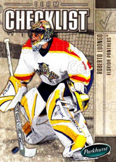 2005-06 Parkhurst #683 Roberto Luongo, Checklist<br/>6 In Stock - $1.00 each - <a href=https://centericecollectibles.foxycart.com/cart?name=2005-06%20Parkhurst%20%23683%20Roberto%20Luongo,...&quantity_max=6&price=$1.00&code=203319 class=foxycart> Buy it now! </a>
