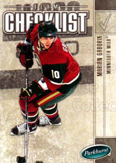 2005-06 Parkhurst #685 Marian Gaborik, Checklist<br/>6 In Stock - $1.00 each - <a href=https://centericecollectibles.foxycart.com/cart?name=2005-06%20Parkhurst%20%23685%20Marian%20Gaborik,...&quantity_max=6&price=$1.00&code=203320 class=foxycart> Buy it now! </a>