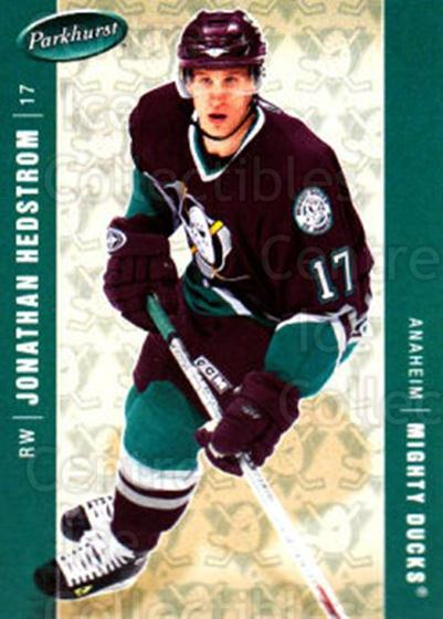 2005-06 Parkhurst #9 Jonathan Hedstrom<br/>6 In Stock - $1.00 each - <a href=https://centericecollectibles.foxycart.com/cart?name=2005-06%20Parkhurst%20%239%20Jonathan%20Hedstr...&quantity_max=6&price=$1.00&code=203356 class=foxycart> Buy it now! </a>