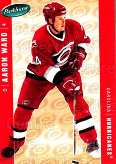 2005-06 Parkhurst #97 Aaron Ward<br/>5 In Stock - $1.00 each - <a href=https://centericecollectibles.foxycart.com/cart?name=2005-06%20Parkhurst%20%2397%20Aaron%20Ward...&quantity_max=5&price=$1.00&code=203364 class=foxycart> Buy it now! </a>