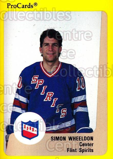 1989-90 ProCards IHL #39 Simon Wheeldon<br/>1 In Stock - $2.00 each - <a href=https://centericecollectibles.foxycart.com/cart?name=1989-90%20ProCards%20IHL%20%2339%20Simon%20Wheeldon...&quantity_max=1&price=$2.00&code=20337 class=foxycart> Buy it now! </a>
