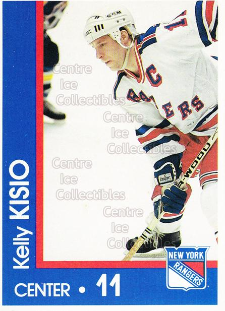 1989-90 New York Rangers Midland Bank #11 Kelly Kisio<br/>8 In Stock - $3.00 each - <a href=https://centericecollectibles.foxycart.com/cart?name=1989-90%20New%20York%20Rangers%20Midland%20Bank%20%2311%20Kelly%20Kisio...&quantity_max=8&price=$3.00&code=20352 class=foxycart> Buy it now! </a>