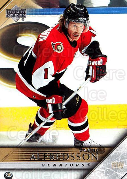 2005-06 Upper Deck #130 Daniel Alfredsson<br/>6 In Stock - $1.00 each - <a href=https://centericecollectibles.foxycart.com/cart?name=2005-06%20Upper%20Deck%20%23130%20Daniel%20Alfredss...&quantity_max=6&price=$1.00&code=203914 class=foxycart> Buy it now! </a>