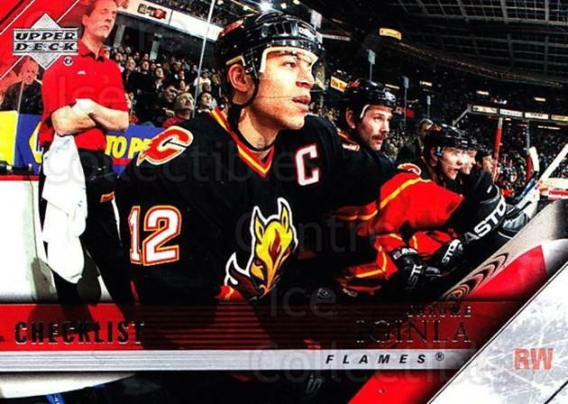 2005-06 Upper Deck #200 Jarome Iginla, Checklist<br/>4 In Stock - $1.00 each - <a href=https://centericecollectibles.foxycart.com/cart?name=2005-06%20Upper%20Deck%20%23200%20Jarome%20Iginla,%20...&quantity_max=4&price=$1.00&code=203991 class=foxycart> Buy it now! </a>