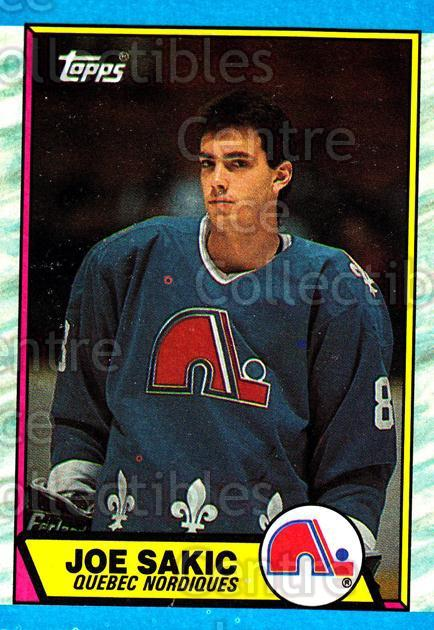 1989-90 Topps #113 Joe Sakic<br/>1 In Stock - $10.00 each - <a href=https://centericecollectibles.foxycart.com/cart?name=1989-90%20Topps%20%23113%20Joe%20Sakic...&quantity_max=1&price=$10.00&code=20409 class=foxycart> Buy it now! </a>