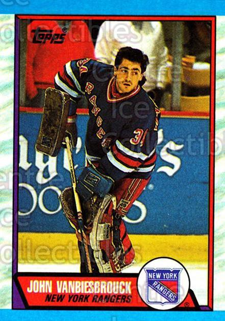 1989-90 Topps #114 John Vanbiesbrouck<br/>6 In Stock - $1.00 each - <a href=https://centericecollectibles.foxycart.com/cart?name=1989-90%20Topps%20%23114%20John%20Vanbiesbro...&quantity_max=6&price=$1.00&code=20410 class=foxycart> Buy it now! </a>
