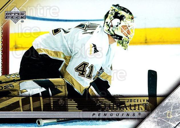2005-06 Upper Deck #402 Jocelyn Thibault<br/>5 In Stock - $1.00 each - <a href=https://centericecollectibles.foxycart.com/cart?name=2005-06%20Upper%20Deck%20%23402%20Jocelyn%20Thibaul...&quantity_max=5&price=$1.00&code=204152 class=foxycart> Buy it now! </a>