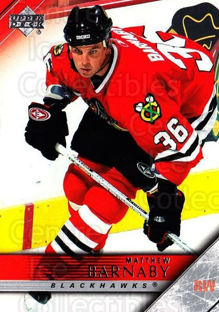 2005-06 Upper Deck #41 Matthew Barnaby<br/>5 In Stock - $1.00 each - <a href=https://centericecollectibles.foxycart.com/cart?name=2005-06%20Upper%20Deck%20%2341%20Matthew%20Barnaby...&quantity_max=5&price=$1.00&code=204159 class=foxycart> Buy it now! </a>