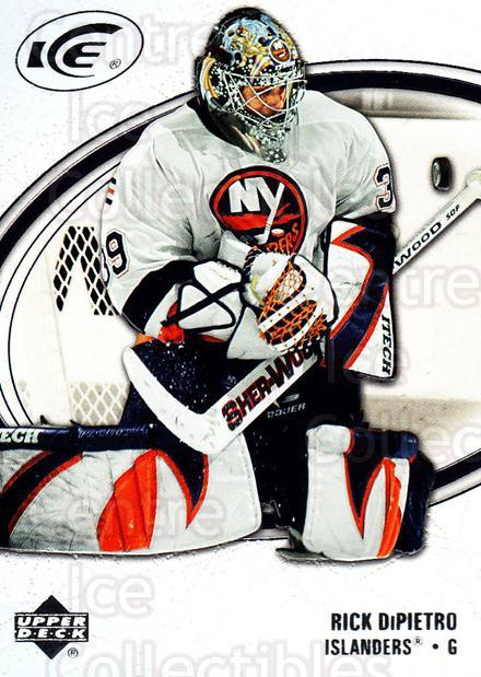 2005-06 UD Ice #61 Rick DiPietro<br/>4 In Stock - $1.00 each - <a href=https://centericecollectibles.foxycart.com/cart?name=2005-06%20UD%20Ice%20%2361%20Rick%20DiPietro...&quantity_max=4&price=$1.00&code=204258 class=foxycart> Buy it now! </a>