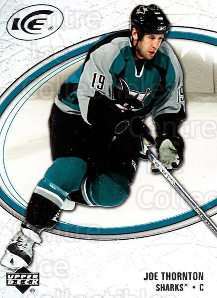 2005-06 UD Ice #80 Joe Thornton<br/>5 In Stock - $1.00 each - <a href=https://centericecollectibles.foxycart.com/cart?name=2005-06%20UD%20Ice%20%2380%20Joe%20Thornton...&quantity_max=5&price=$1.00&code=204279 class=foxycart> Buy it now! </a>