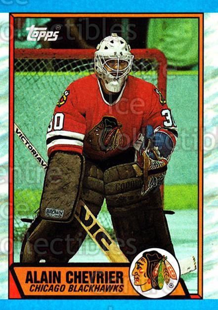 1989-90 Topps #132 Alain Chevrier<br/>6 In Stock - $1.00 each - <a href=https://centericecollectibles.foxycart.com/cart?name=1989-90%20Topps%20%23132%20Alain%20Chevrier...&quantity_max=6&price=$1.00&code=20429 class=foxycart> Buy it now! </a>