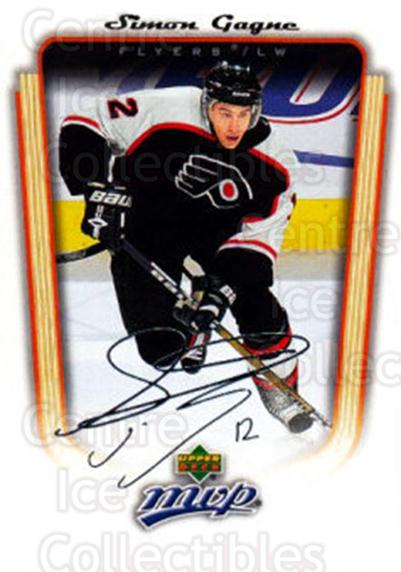 2005-06 Upper Deck MVP #279 Simon Gagne<br/>3 In Stock - $1.00 each - <a href=https://centericecollectibles.foxycart.com/cart?name=2005-06%20Upper%20Deck%20MVP%20%23279%20Simon%20Gagne...&quantity_max=3&price=$1.00&code=204341 class=foxycart> Buy it now! </a>