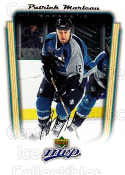 2005-06 Upper Deck MVP #325 Patrick Marleau<br/>5 In Stock - $1.00 each - <a href=https://centericecollectibles.foxycart.com/cart?name=2005-06%20Upper%20Deck%20MVP%20%23325%20Patrick%20Marleau...&quantity_max=5&price=$1.00&code=204393 class=foxycart> Buy it now! </a>