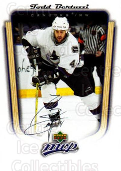 2005-06 Upper Deck MVP #373 Todd Bertuzzi<br/>5 In Stock - $1.00 each - <a href=https://centericecollectibles.foxycart.com/cart?name=2005-06%20Upper%20Deck%20MVP%20%23373%20Todd%20Bertuzzi...&quantity_max=5&price=$1.00&code=204446 class=foxycart> Buy it now! </a>