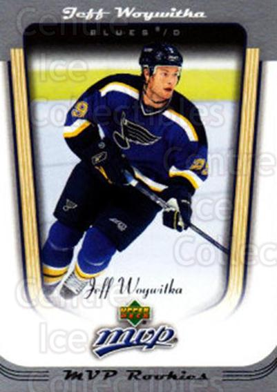 2005-06 Upper Deck MVP #398 Jeff Woywitka<br/>6 In Stock - $2.00 each - <a href=https://centericecollectibles.foxycart.com/cart?name=2005-06%20Upper%20Deck%20MVP%20%23398%20Jeff%20Woywitka...&price=$2.00&code=204475 class=foxycart> Buy it now! </a>