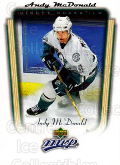 2005-06 Upper Deck MVP #9 Andy McDonald<br/>5 In Stock - $1.00 each - <a href=https://centericecollectibles.foxycart.com/cart?name=2005-06%20Upper%20Deck%20MVP%20%239%20Andy%20McDonald...&quantity_max=5&price=$1.00&code=204566 class=foxycart> Buy it now! </a>