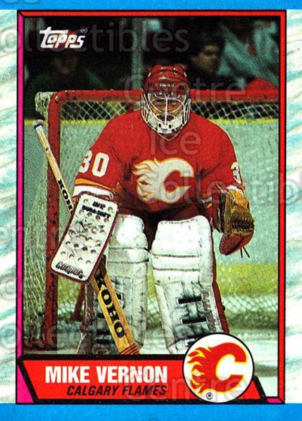 1989-90 Topps #163 Mike Vernon<br/>5 In Stock - $1.00 each - <a href=https://centericecollectibles.foxycart.com/cart?name=1989-90%20Topps%20%23163%20Mike%20Vernon...&quantity_max=5&price=$1.00&code=20458 class=foxycart> Buy it now! </a>